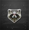 raccoon in the style of origami vector image vector image