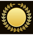gold laurels vector image vector image