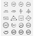 Angle 360 degrees icons set vector image