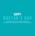 background style of world doctor day vector image