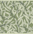 branches hand drawing seamless pattern vector image