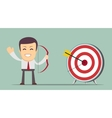 Business man shooting target vector image