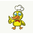 Cartoon duck cooking design for kids vector image