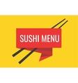Japanese sushi menu template vector image