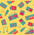 seamless pattern with old school things vector image