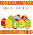 easter card 5 vector image vector image