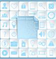 sticker icons web design vector image