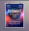 music flyer brochure poster template for your vector image