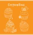 scetch orange background vector image