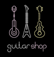 guitar shop color vector image vector image