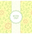 Floral background in retro style vector image vector image