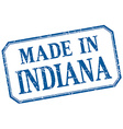 Indiana - made in blue vintage isolated label vector image