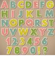 Alphabet Paper vector image
