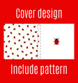 cover design with ladybug pattern vector image