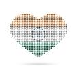 I love India Creative heart flag vector image