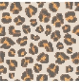 Leopard halftone seamless pattern vector image