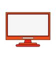 monitor flat vector image