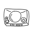 video game console isolated icon design vector image