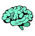 human brain icon icon cartoon vector image