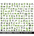 165 bicolor icons Travel and Tourism vector image vector image