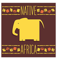 Stylized African elephant vector image