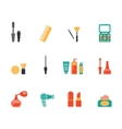 Hairstyling and makeup flat icons vector image vector image