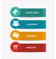 Marketing design vector image
