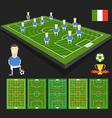 Soccer world cup team presentation vector image