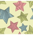 decorative stars background vector image vector image