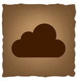 Cloud sign Vintage effect vector image