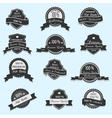 Set of 12 Premium Quality labels vector image