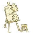 Art Board vector image