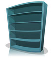 cartoon empty library bookshelf vector image