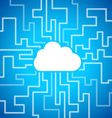 Cloud computing theme vector image