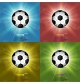 Color set Soccer ball web icon flat design vector image