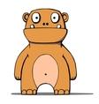 Funny cartoon bear monster vector image