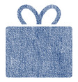 gift fabric textured icon vector image