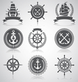 Nautical set 5 vector image