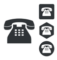 Telephone icon set monochrome vector image
