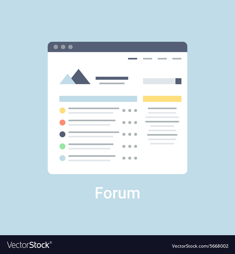 Forum wireframe vector
