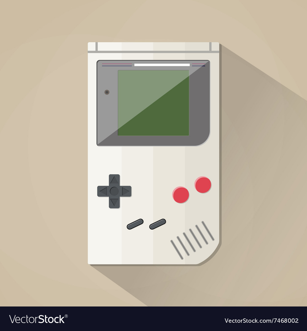 Old gadget flat design vector