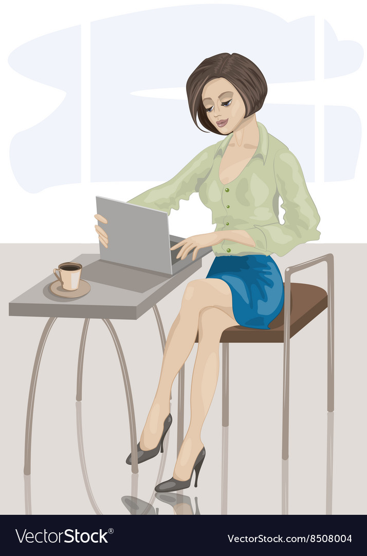 Businesswoman cartoon vector