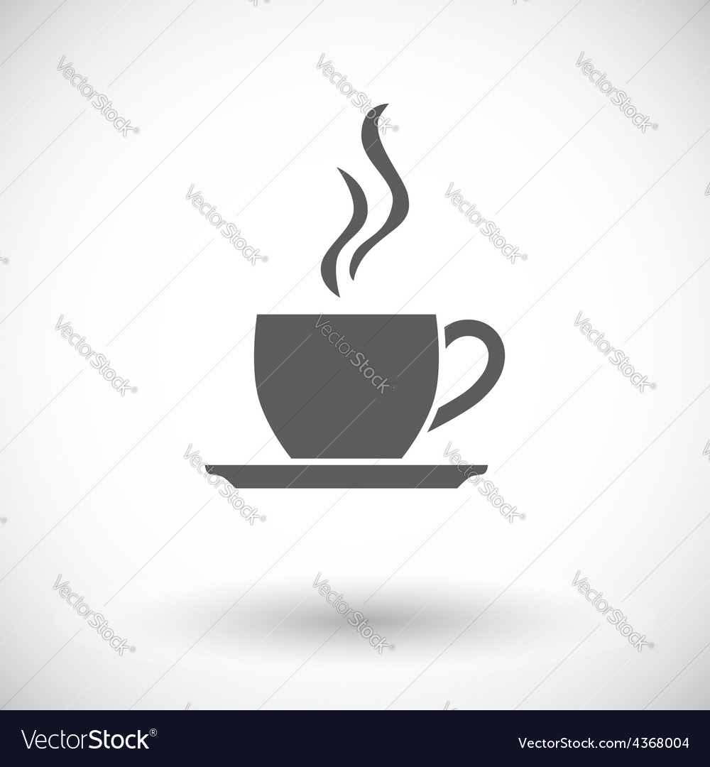 Cafe flat single icon vector