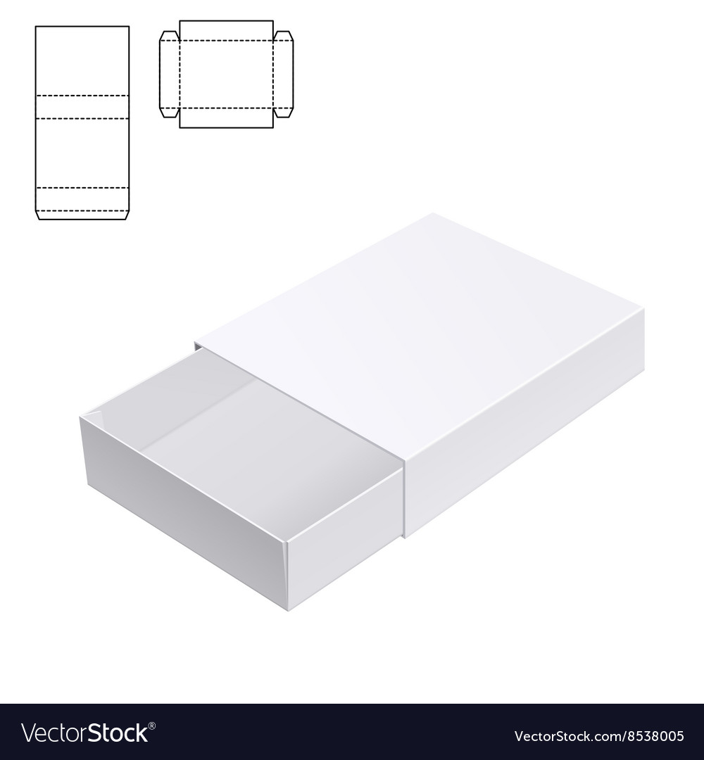 Gift craft box for design a vector