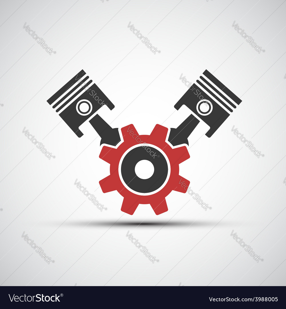 Icon of automotive engine vector