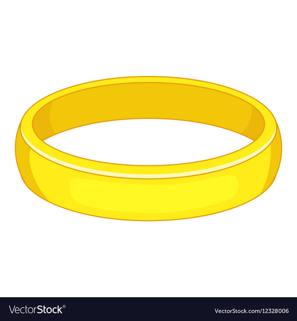 Gold bracelet icon cartoon style vector