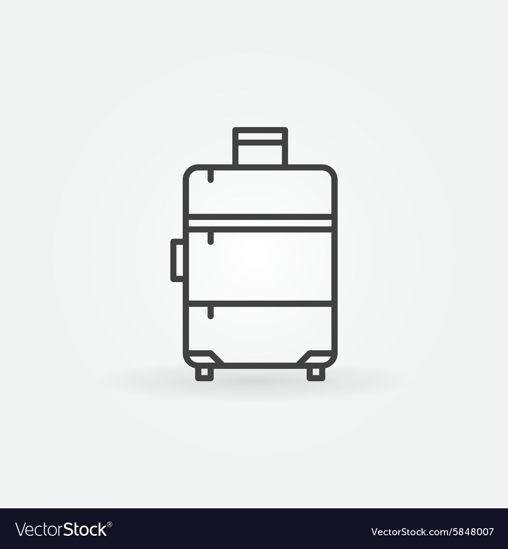 Traveling bag icon or logo vector