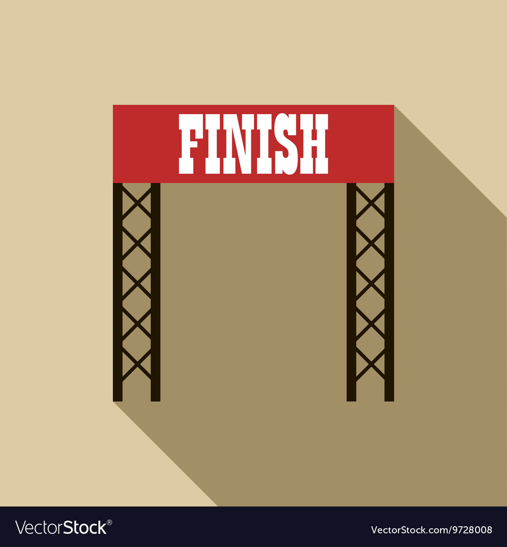 Finish line icon in flat style vector