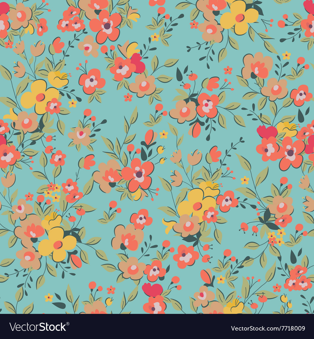 Abstract seamless pattern with floral background vector