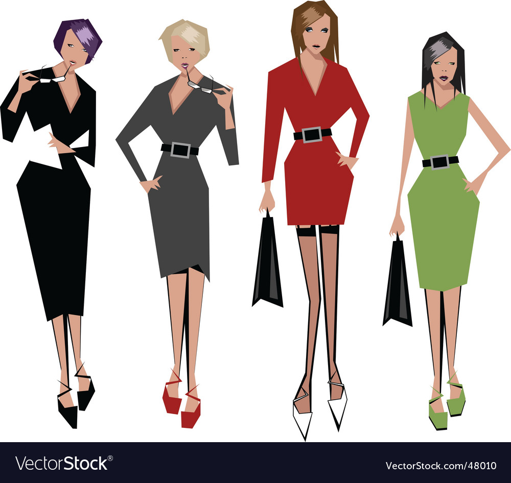Angular women vector
